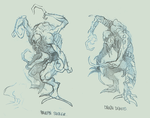 RE3 Nemesis Enemies Sketch by ncrow