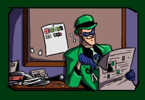 Riddler: A day in the life by Crispy-Gypsy