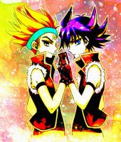 Crow and Yusei by shucanme
