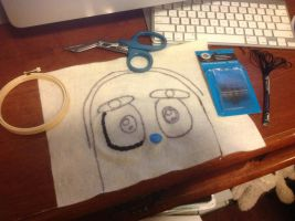 I am now embroidering Kabutack doll's left eye by Magic-Kristina-KW