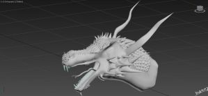 3D Dragon WIP by Ineray