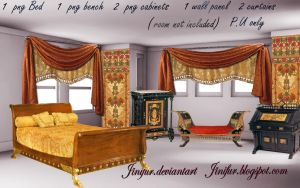 Egyptian Revival furniture png by jinifur