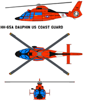 HH-65A Dauphin US Coast Guard by bagera3005