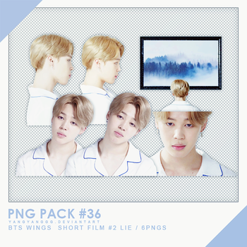 PNG PACK#36 -  BTS WINGS  Short Film #2  LIE 6PNGs by Yangyanggg
