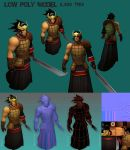 Low Poly 3D Character Model by Bullettrainstudios