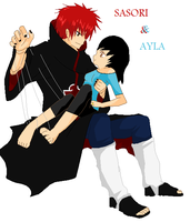 Sasori and Ayla by KaciMoonlight