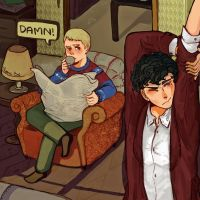 Johnlock in the morning by camelliabei