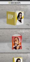 Book / 10 Mockup / Photo Realistic by calwincalwin