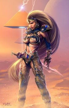 Inanna Anunnaki Commission By Isikol by ravenwood0713