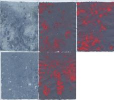 Handmade Paper - Blue and Red by Dreams-Made-Flesh