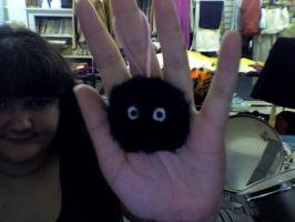 soot spright cell  charm handmade by me by miku22