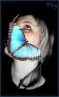 Blue Morpho butterfly by Piipsy