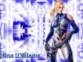 Symmetical Blue Nina Williams by WhiteAngel50000