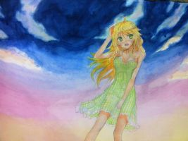 miki watercolour by yo-chaosangel