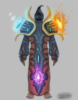 FrostwindzDrawing | Mage Armor Concept by Frostwindz