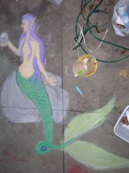 Chalk Mermaid by AdmiralCookie