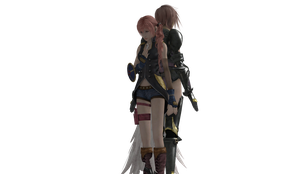 Final Fantasy XIII - Lightning and Serah by SilverMoonCrystal