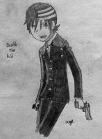 Death the Kid Gun Stance by ags342