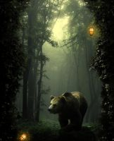 Fantasy Forest Bear by Storms-Stock