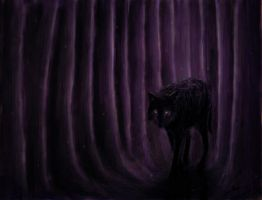 black wolf by ang92