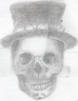 Top Hatted Skull by abolatinge