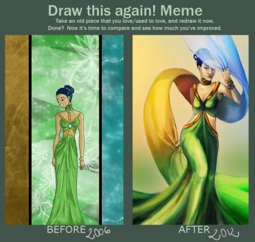 Draw this again meme- 2006-2012 by Nikkou89