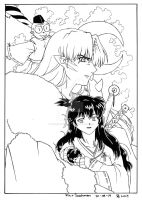 .:Lord Sesshomaru and Rin:. by RenaissanceLady-K