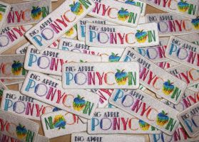 Big Apple Ponycon Patches by EthePony