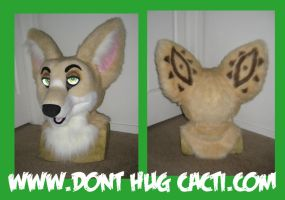 WIP Fennec Fox Head by Bloody-Kryptonite