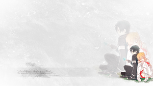 Asuna and Kirito Wallpaper by thaismilk