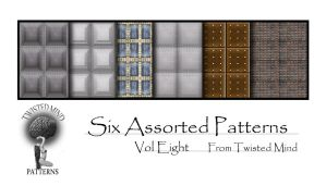 Twisted Mind Six Assorted Patterns vol Eight by Textures-and-More