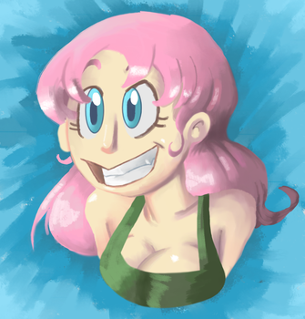 Pink Girl Happy by Icelandpricess