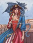 Wench with Spyglass and Dragon by Wenchworks