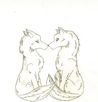 Wolf Couple by Pinkfirefly135