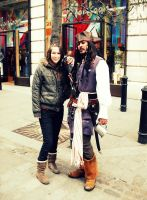 Me and Capt. Jack in London by B-TURKS