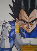 Prince Vegeta ACEO card by LadyNin-Chan