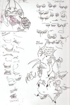 Thrax sketches part one by VotrePoison