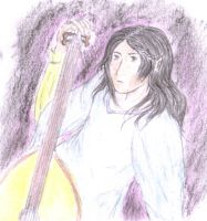 Maglor and his Lute by Gwenniel