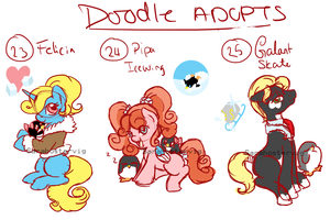 Doodle pony adopts adopts 9 CLOSED by Sarahostervig
