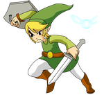 Toon Link Drawing by Knightz22
