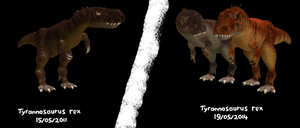 SPORE - T. rex, first and last versions by ZeWqt