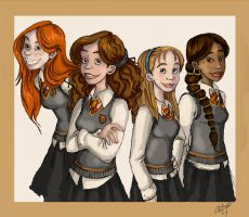 Gryffindor Girls by superkit