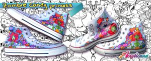 Zombie Candy Princess Shoes by marywinkler
