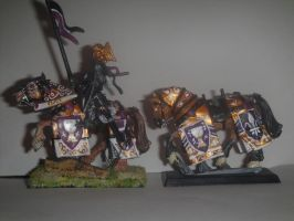 Bretonnian Grail Knights by ImposingBeauty