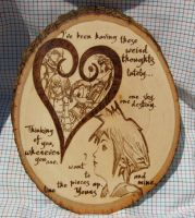 Kingdom Hearts Pyrography by laurapalmerwashere