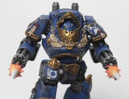 Ultramarines Alpha Company Contemptor (Head On) by jstncloud