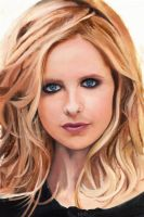 Sarah Michelle Gellar Color Oil Painting by jlim51