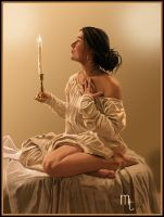 Girl with a candle by turkill
