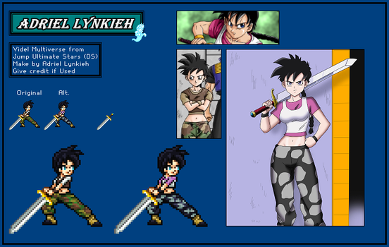 Videl (Universo 9) - Dragon Ball Multiverse by AdrielLynkieh