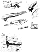Starship Sketches by Norsehound